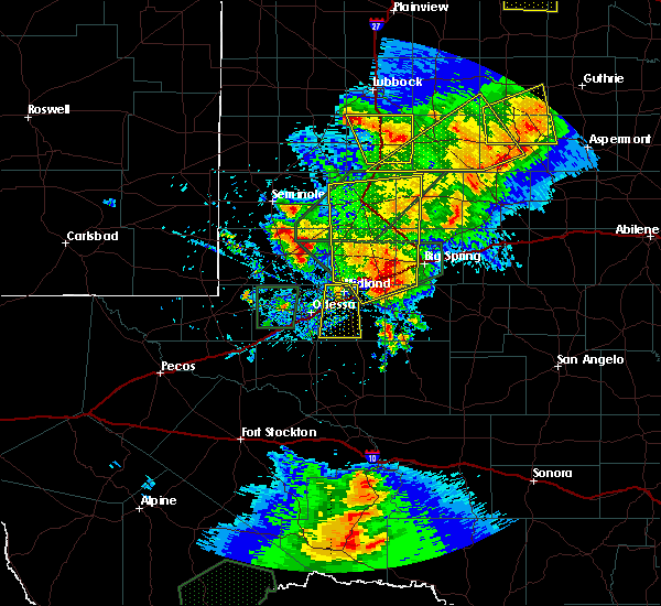 Radar Image for Severe Thunderstorms near Odessa, TX at 5/15/2020 4:55 PM CDT