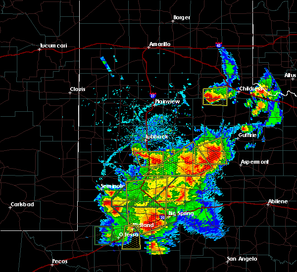 Radar Image for Severe Thunderstorms near Guthrie, TX at 5/15/2020 5:00 PM CDT