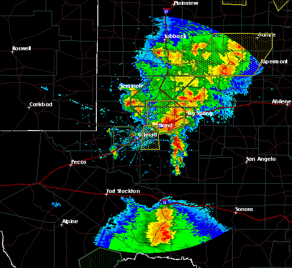 Radar Image for Severe Thunderstorms near Odessa, TX at 5/15/2020 5:11 PM CDT