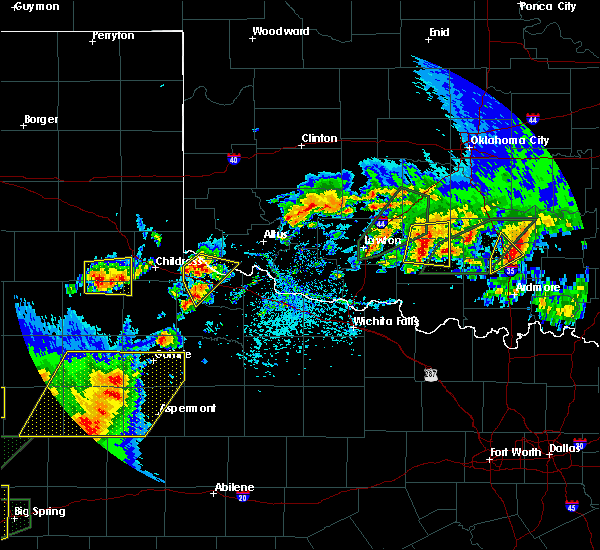 Radar Image for Severe Thunderstorms near Altus, OK at 5/15/2020 5:19 PM CDT