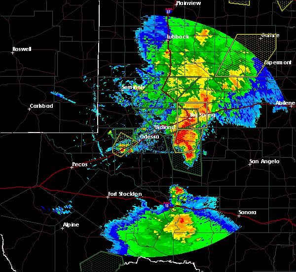Radar Image for Severe Thunderstorms near Garden City, TX at 5/15/2020 5:44 PM CDT