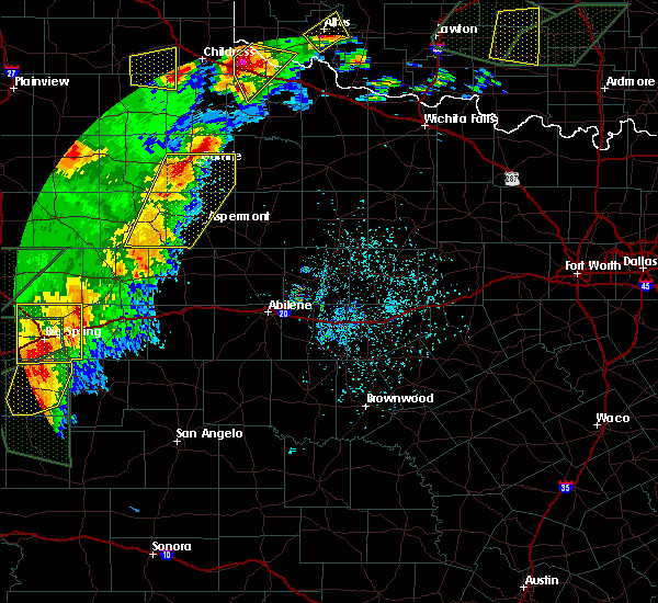 Radar Image for Severe Thunderstorms near Guthrie, TX at 5/15/2020 5:43 PM CDT