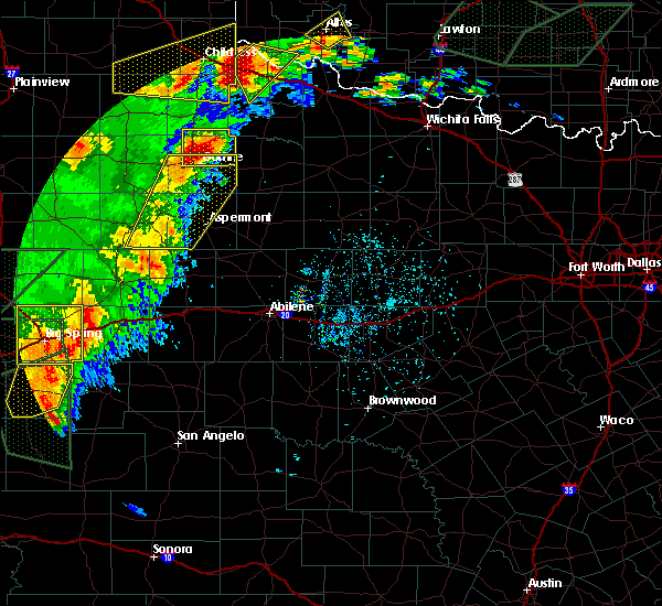 Radar Image for Severe Thunderstorms near Guthrie, TX at 5/15/2020 5:48 PM CDT
