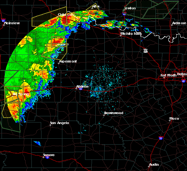 Radar Image for Severe Thunderstorms near Guthrie, TX at 5/15/2020 5:53 PM CDT