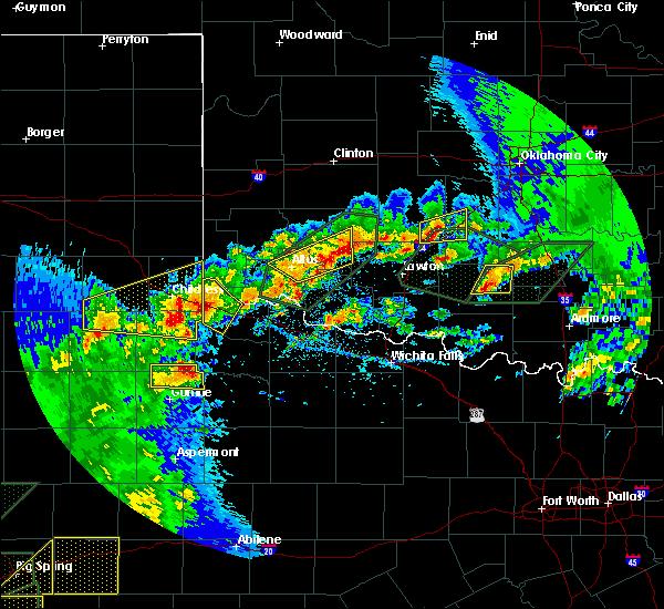 Radar Image for Severe Thunderstorms near Frederick, OK at 5/15/2020 6:15 PM CDT