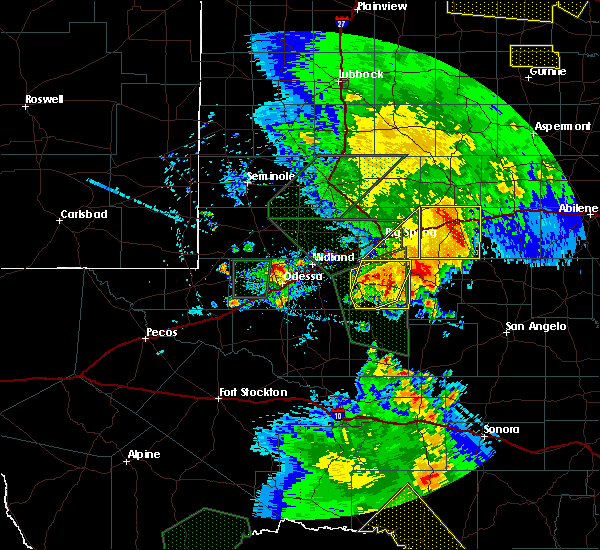 Radar Image for Severe Thunderstorms near Garden City, TX at 5/15/2020 6:16 PM CDT