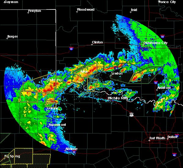 Radar Image for Severe Thunderstorms near Roosevelt, OK at 5/15/2020 6:23 PM CDT