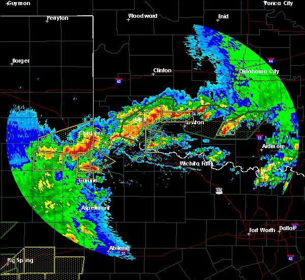 Radar Image for Severe Thunderstorms near Frederick, OK at 5/15/2020 6:29 PM CDT
