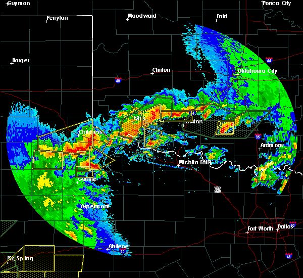 Radar Image for Severe Thunderstorms near Estelline, TX at 5/15/2020 6:31 PM CDT