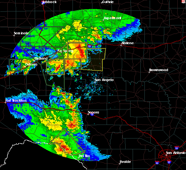Radar Image for Severe Thunderstorms near Loraine, TX at 5/15/2020 6:36 PM CDT