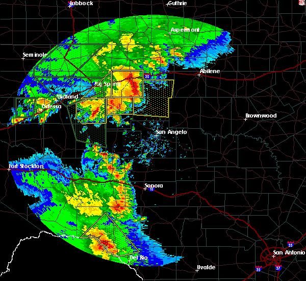 Radar Image for Severe Thunderstorms near Eldorado, TX at 5/15/2020 6:37 PM CDT