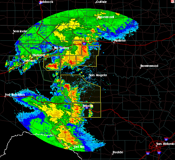 Radar Image for Severe Thunderstorms near Loraine, TX at 5/15/2020 6:48 PM CDT