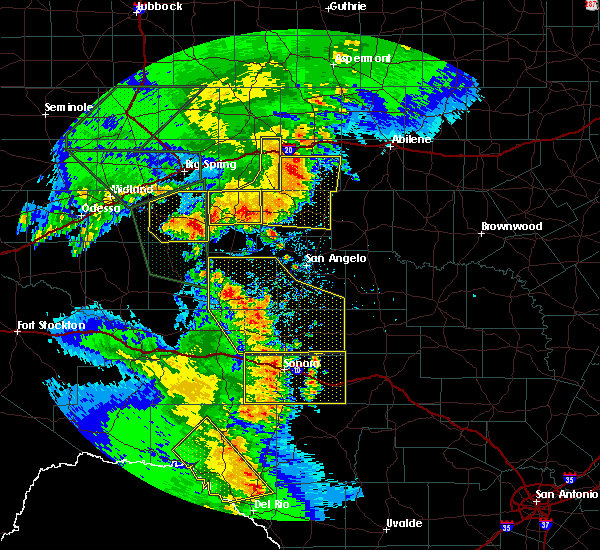 Radar Image for Severe Thunderstorms near Sterling City, TX at 5/15/2020 6:50 PM CDT