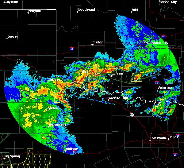 Radar Image for Severe Thunderstorms near Frederick, OK at 5/15/2020 6:52 PM CDT