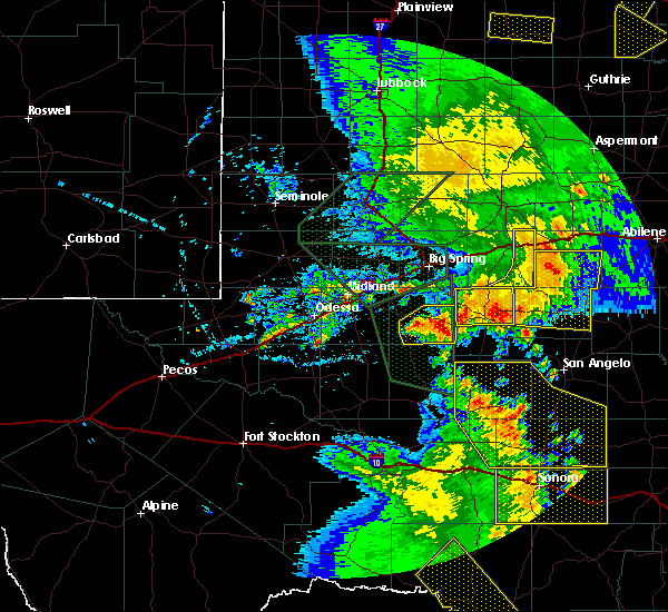 Radar Image for Severe Thunderstorms near Garden City, TX at 5/15/2020 6:53 PM CDT