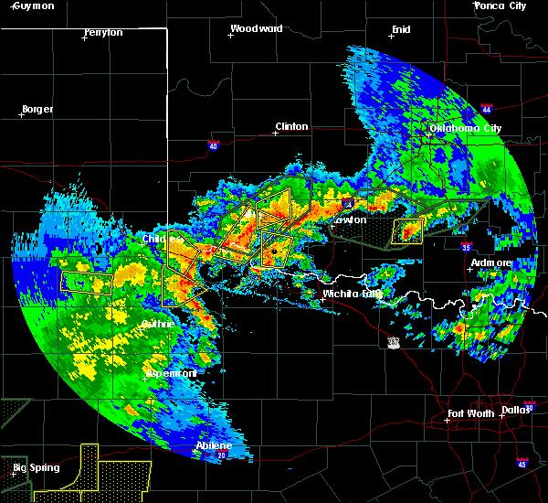 Radar Image for Severe Thunderstorms near Roosevelt, OK at 5/15/2020 6:55 PM CDT