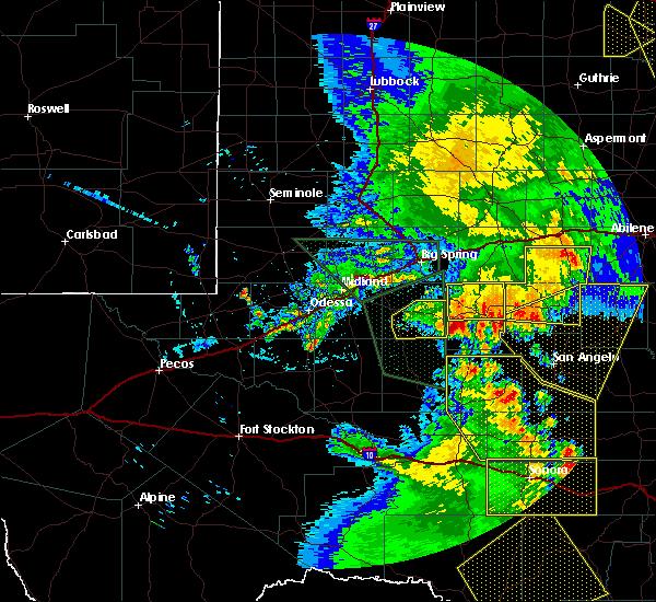 Radar Image for Severe Thunderstorms near Garden City, TX at 5/15/2020 7:09 PM CDT