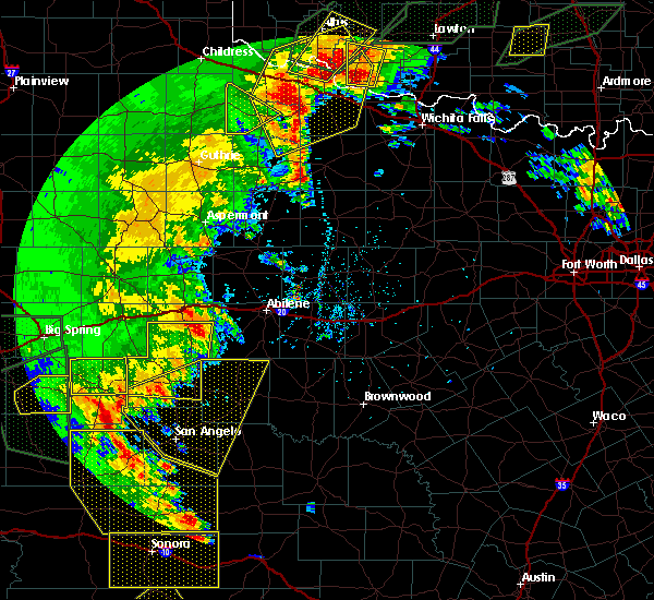 Radar Image for Severe Thunderstorms near Hawley, TX at 5/15/2020 7:13 PM CDT