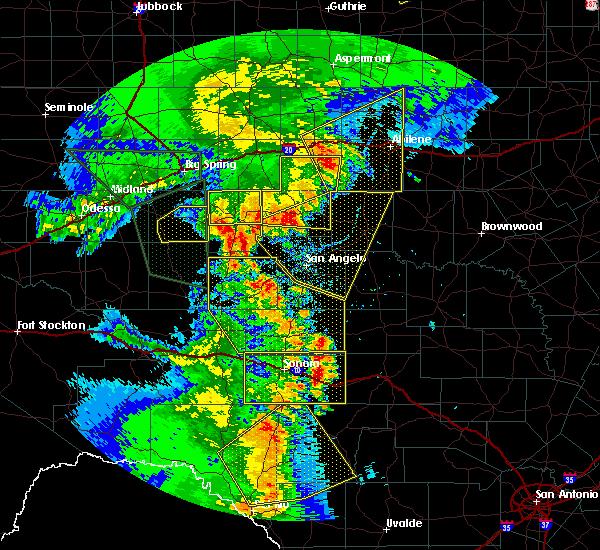 Radar Image for Severe Thunderstorms near Eldorado, TX at 5/15/2020 7:16 PM CDT