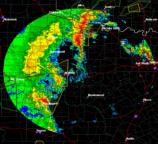 Radar Image for Severe Thunderstorms near Buffalo Gap, TX at 5/15/2020 7:47 PM CDT