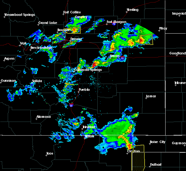 Radar Image for Severe Thunderstorms near Ramah, CO at 5/15/2020 6:48 PM MDT
