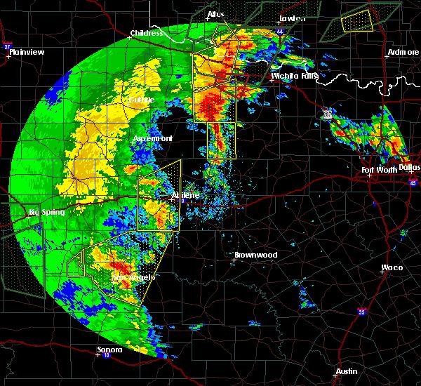 Radar Image for Severe Thunderstorms near Elbert, TX at 5/15/2020 7:52 PM CDT
