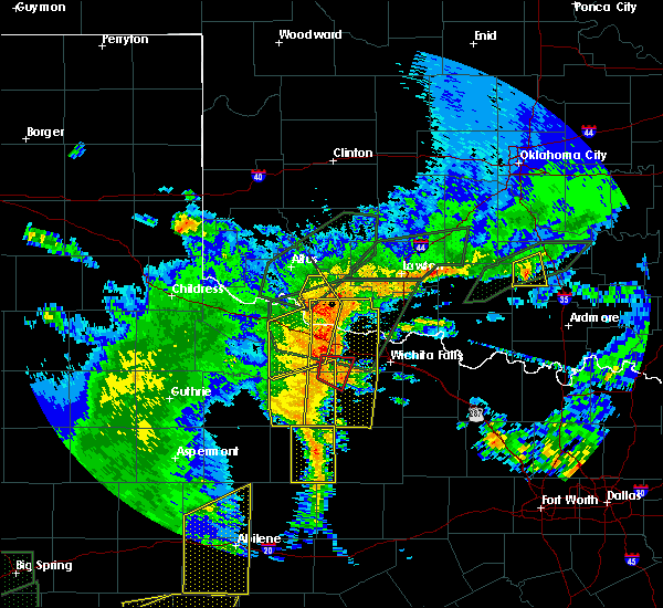 Radar Image for Severe Thunderstorms near Pleasant Valley, TX at 5/15/2020 8:01 PM CDT