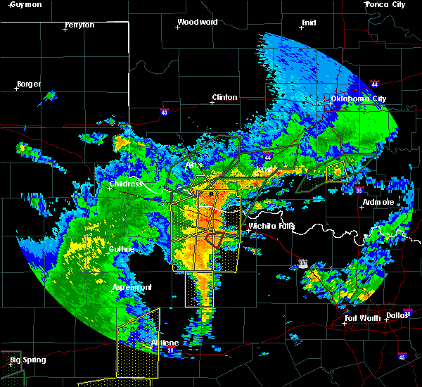 Radar Image for Severe Thunderstorms near Scotland, TX at 5/15/2020 8:09 PM CDT