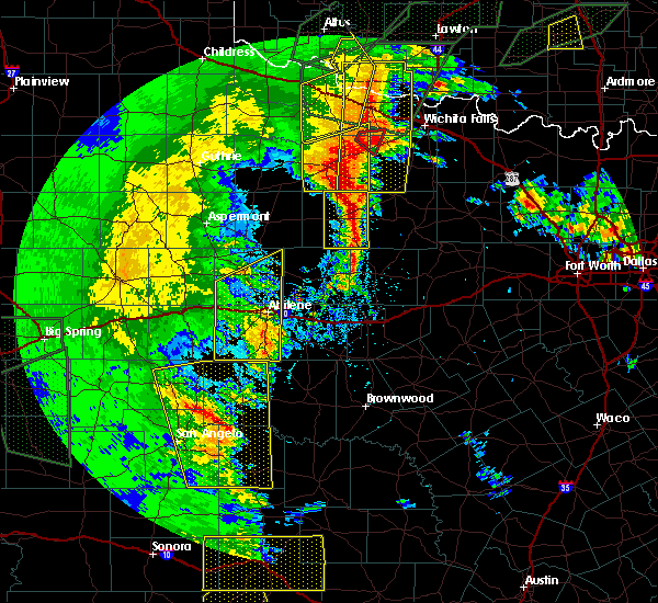 Radar Image for Severe Thunderstorms near Baird, TX at 5/15/2020 8:09 PM CDT