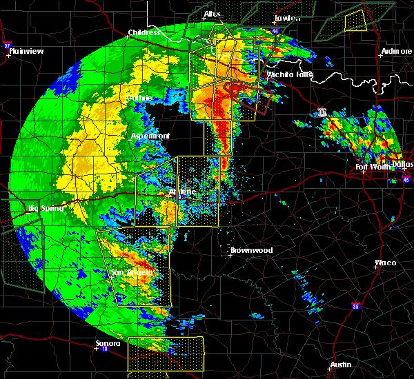 Radar Image for Severe Thunderstorms near Graham, TX at 5/15/2020 8:12 PM CDT