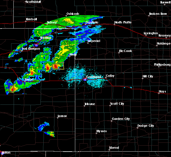 Radar Image for Severe Thunderstorms near Joes, CO at 5/15/2020 7:14 PM MDT