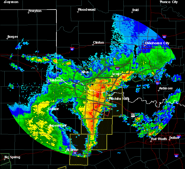 Radar Image for Severe Thunderstorms near Scotland, TX at 5/15/2020 8:28 PM CDT