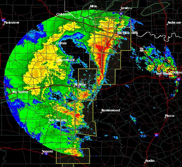 Radar Image for Severe Thunderstorms near Elbert, TX at 5/15/2020 8:36 PM CDT