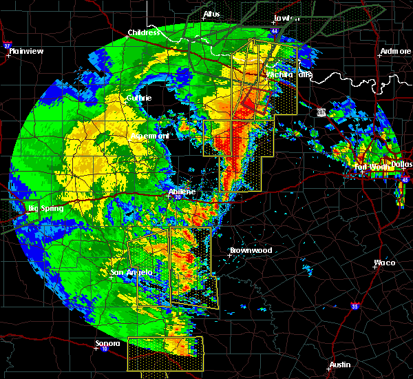 Radar Image for Severe Thunderstorms near Elbert, TX at 5/15/2020 8:46 PM CDT