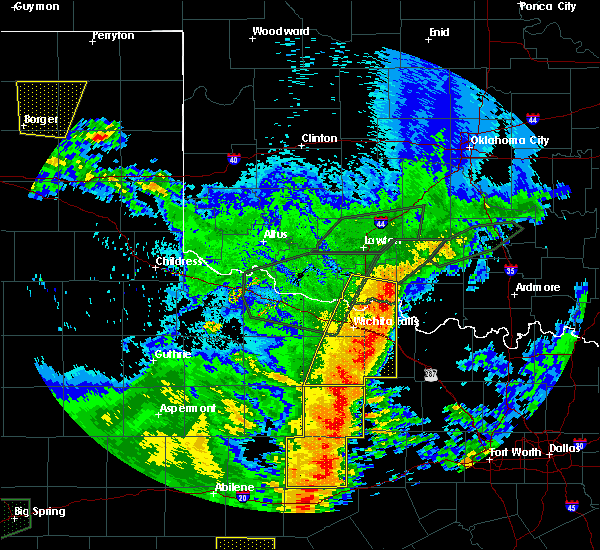 Radar Image for Severe Thunderstorms near Hastings, OK at 5/15/2020 9:15 PM CDT