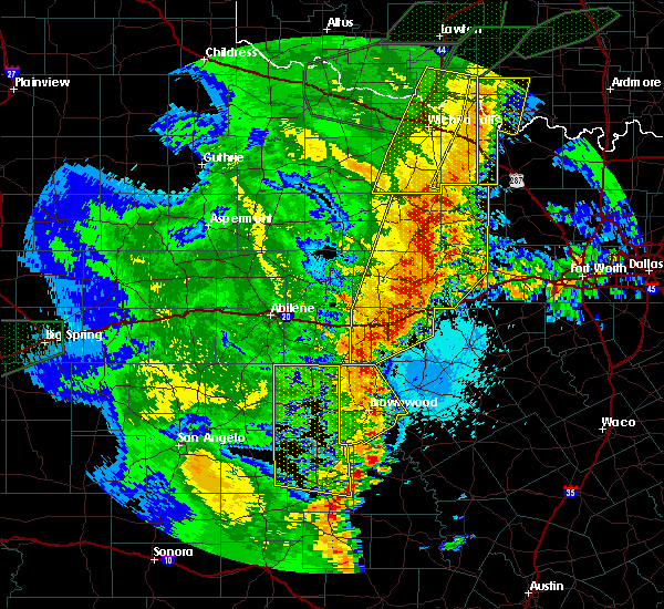 Radar Image for Severe Thunderstorms near Bryson, TX at 5/15/2020 9:32 PM CDT