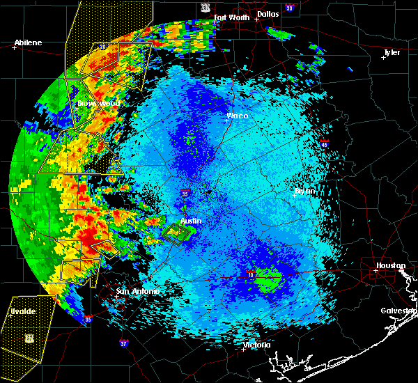 Radar Image for Severe Thunderstorms near Richland Springs, TX at 5/15/2020 9:59 PM CDT
