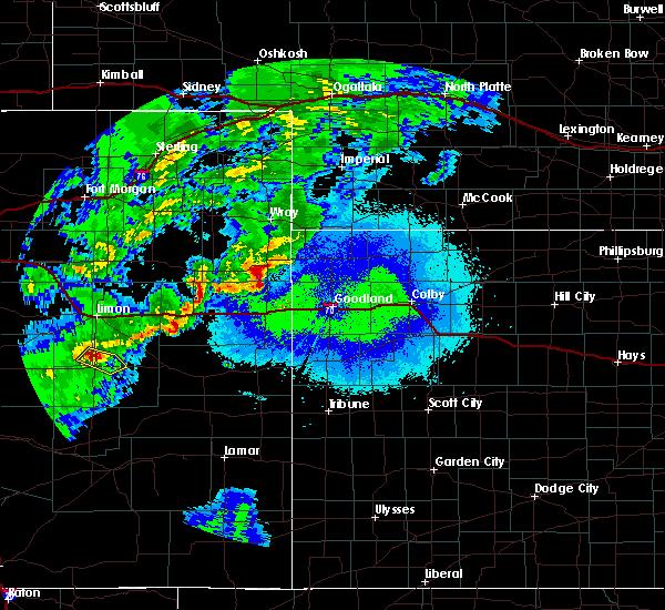 Radar Image for Severe Thunderstorms near Kanorado, KS at 5/15/2020 9:00 PM MDT