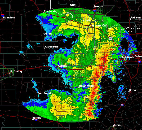 Radar Image for Severe Thunderstorms near Dublin, TX at 5/15/2020 10:32 PM CDT