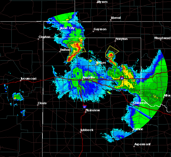 Radar Image for Severe Thunderstorms near Cactus, TX at 5/15/2020 10:38 PM CDT