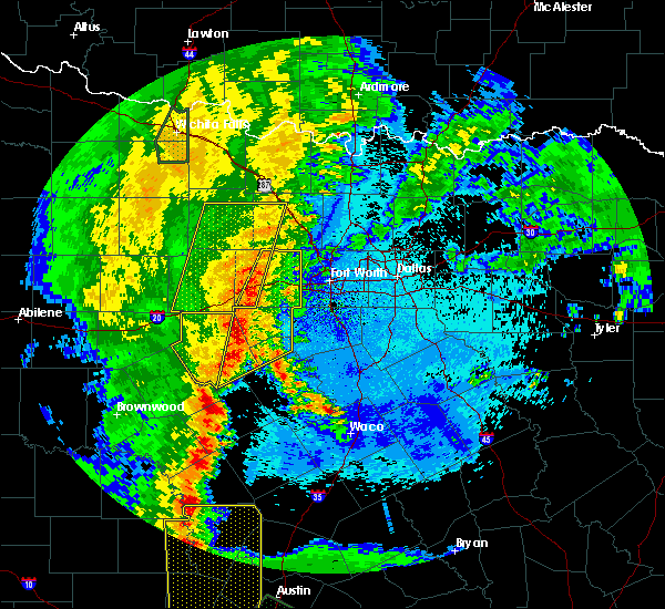 Radar Image for Severe Thunderstorms near Weatherford, TX at 5/15/2020 10:45 PM CDT