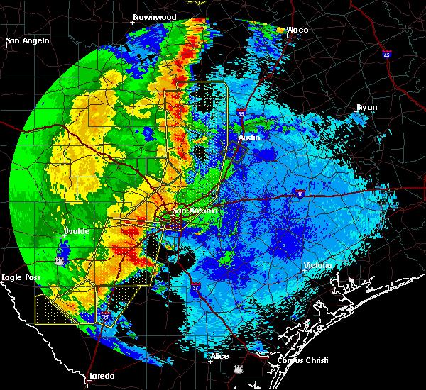 Radar Image for Severe Thunderstorms near San Antonio, TX at 5/15/2020 10:46 PM CDT