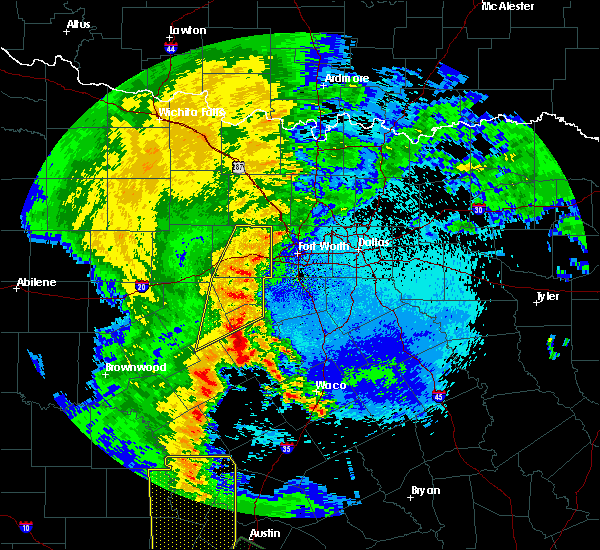 Radar Image for Severe Thunderstorms near Weatherford, TX at 5/15/2020 11:11 PM CDT