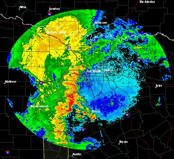 Radar Image for Severe Thunderstorms near Glen Rose, TX at 5/15/2020 11:28 PM CDT