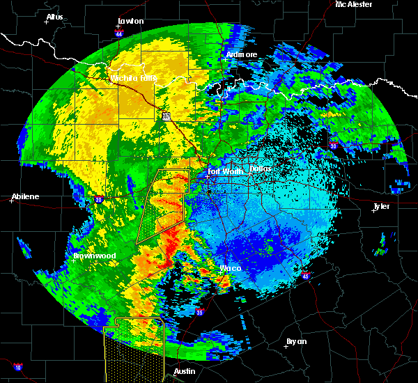 Radar Image for Severe Thunderstorms near Gatesville, TX at 5/15/2020 11:28 PM CDT