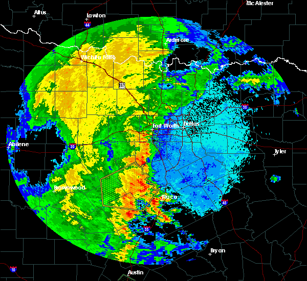 Radar Image for Severe Thunderstorms near Gatesville, TX at 5/15/2020 11:51 PM CDT