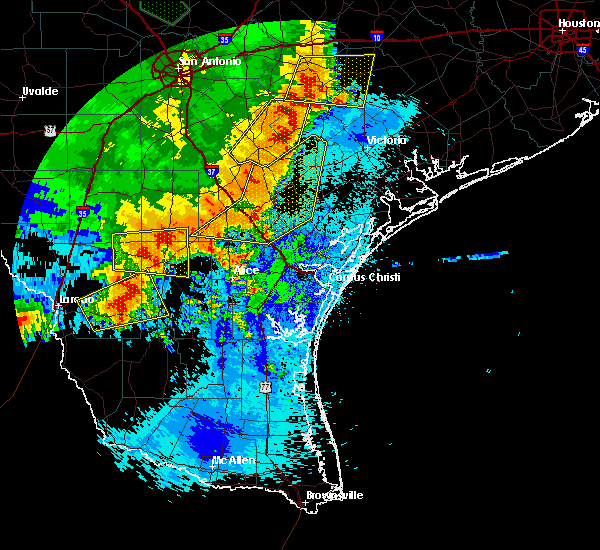 Radar Image for Severe Thunderstorms near Sandia, TX at 5/16/2020 12:57 AM CDT