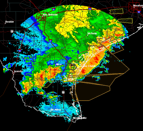 Radar Image for Severe Thunderstorms near Guerra, TX at 5/16/2020 2:57 AM CDT