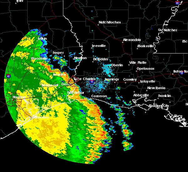Radar Image for Severe Thunderstorms near Deweyville, TX at 5/16/2020 7:15 AM CDT