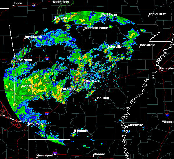 Radar Image for Severe Thunderstorms near Little Rock, AR at 5/16/2020 4:09 PM CDT